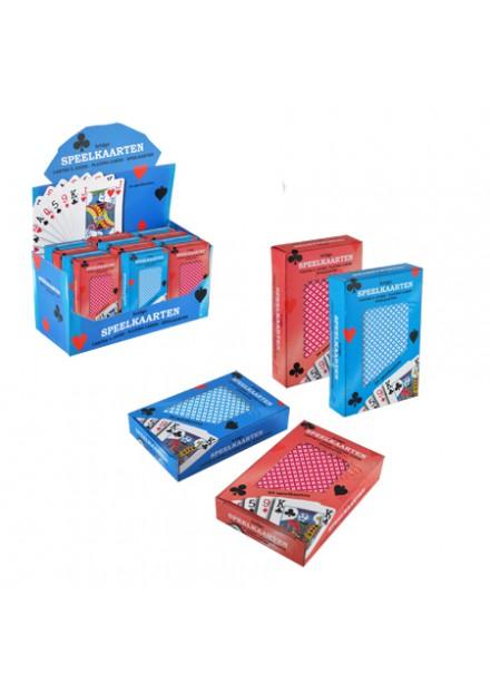 speelkaarten 1 stok blauw of rood