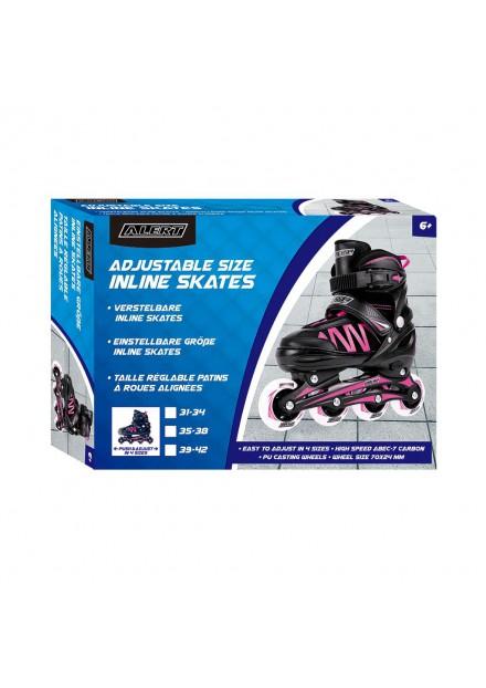 Inline Skate Maat 31-34 Roze Alert