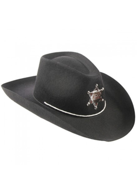 cowboyhoed kind zwart