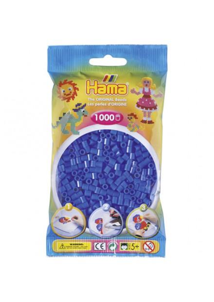 Strijkkralen Hama 1000 Stuks blauw 08