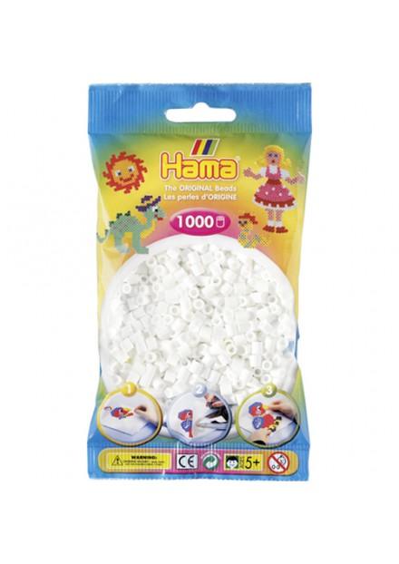 Strijkkralen Hama 1000 Stuks wit 01