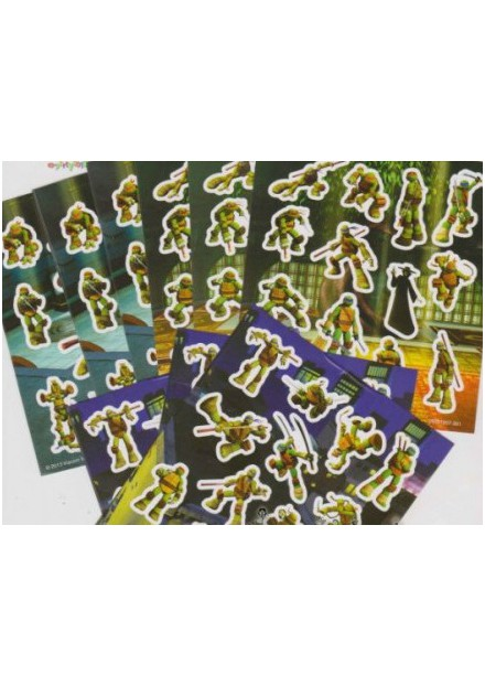Stickervel Turtles assortie