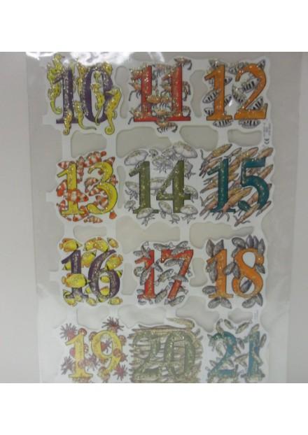 Poëzie plaatjes glitter cijfers