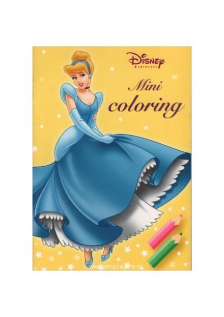 Disney mini coloring princess geel