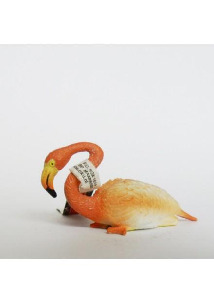 Dieren Flamingo zittend