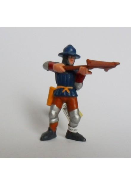 Ridder soldaat kruisboog Bullyland blauw