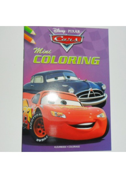 Disney mini coloring Cars paars