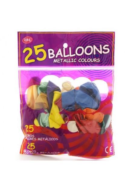Ballonnen 25 stuks in zak roze-hartjes