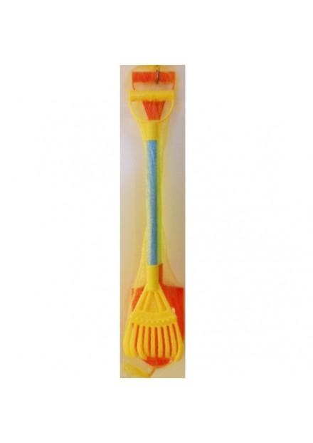 Schep + bladerhark 70cm,