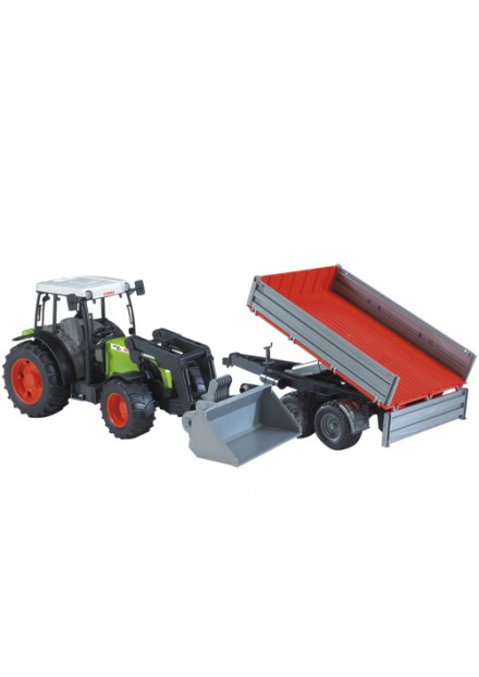 Bruder Tractor Claas Met Aanhanger