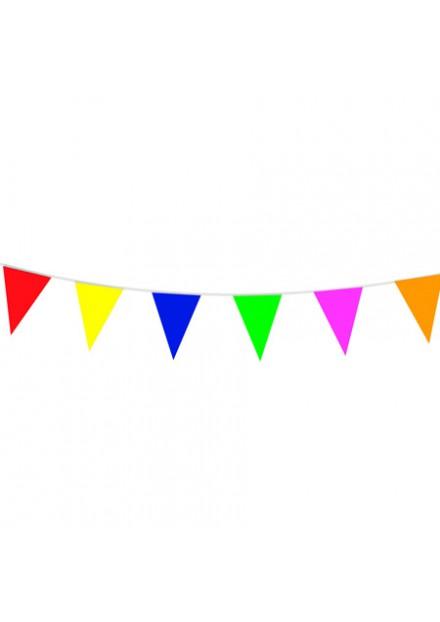 vlaggenlijn plastic gekleurd 10mtr