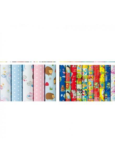Inpak papier Kinderen 2 m x 70 cm assortie