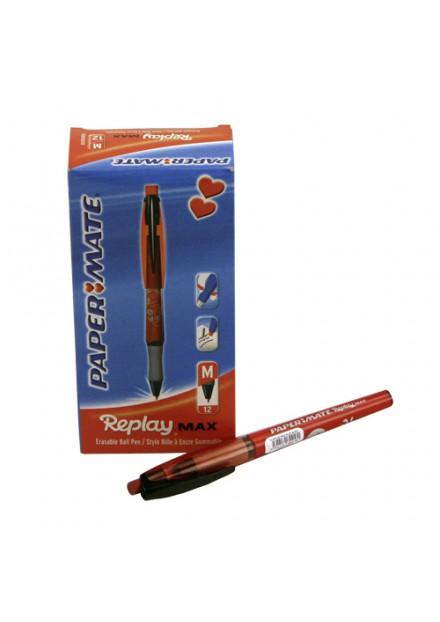 Puzzel pen Paper Mate Erasable gel rood M