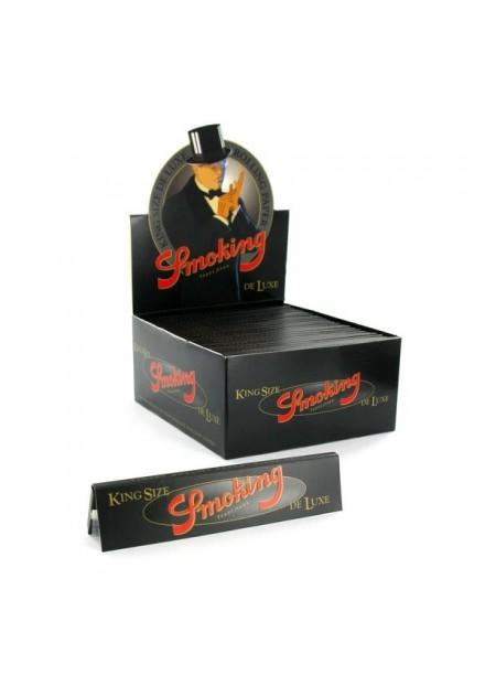 Smoking vloei kingsize de luxe zwart 33 vel