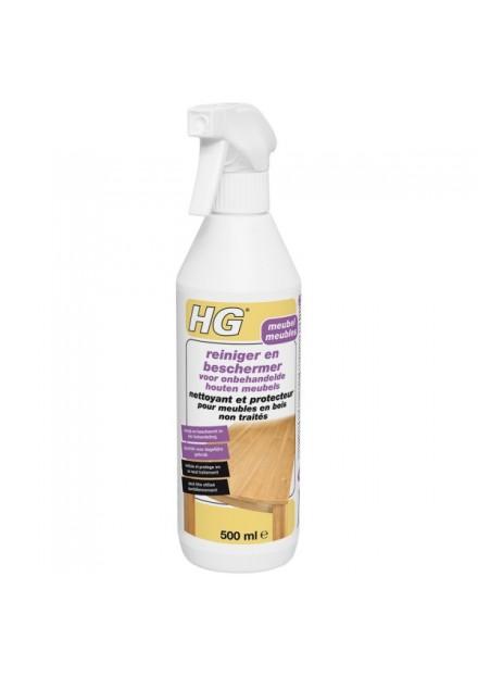 HG reiniger en beschermer voor onbehandelde houten meubels 500ml