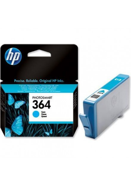 HP 364 (CB318EE) inkjet cartridge cyaan (origineel)