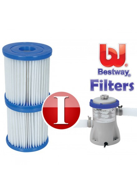 BESTWAY ZWEMBADPOMP FILTER CARDRIDGE TYPE 1