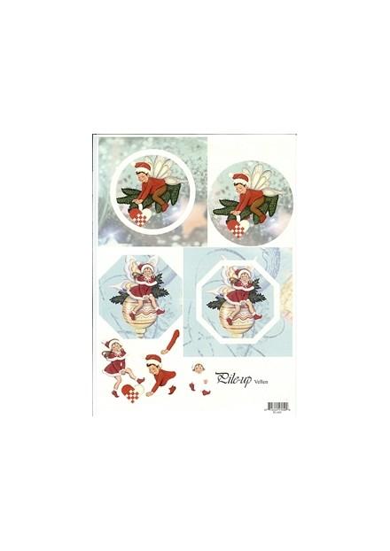 knipvel A4 +2 kaarten kerst