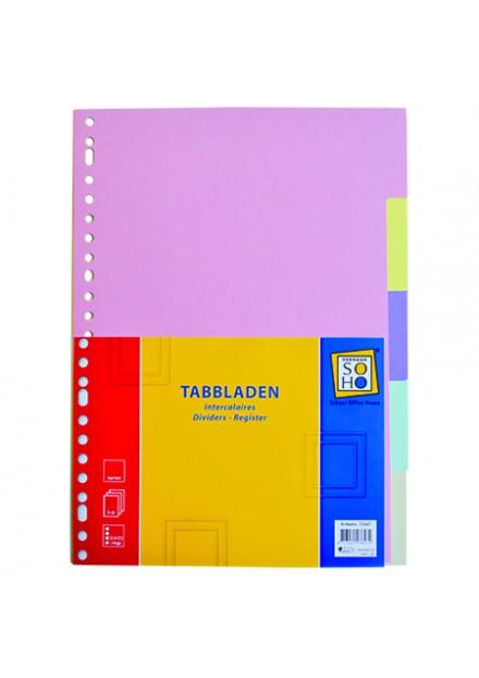 Tabbladen 23r 5dlg karton SOHO