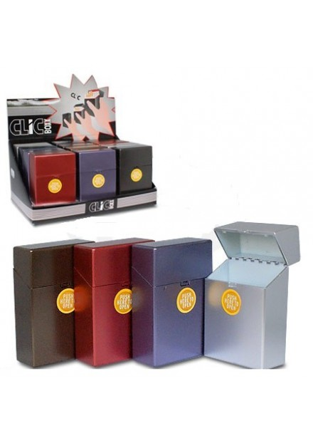 Plastic Sigaretten.box 20 Pop-up Metalic