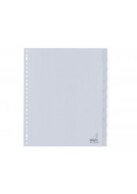 Kangaro tabblad A4 23r 10 venster tabs grijs